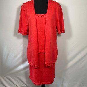 St. John Santana Knit 3 Piece Skirt Suit